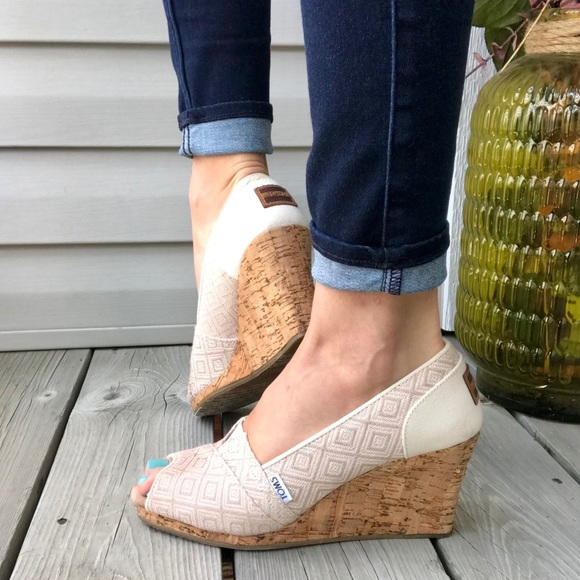 Toms Shoes   Toms Classic Cork Wedge